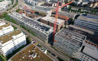Fin du gros-œuvre du projet Sévelin à Lausanne