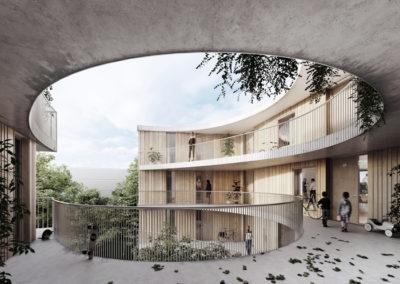183_PDL D | Construction de logements en PPE dans l'écoquartier des Plaines-du-Loup | Pièce urbaine D