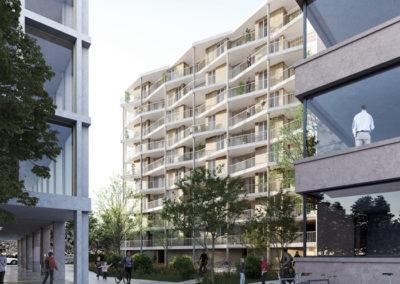 183_PDL D | Construction de logements subventionnés dans l'écoquartier des Plaines-du-Loup | Pièce urbaine D