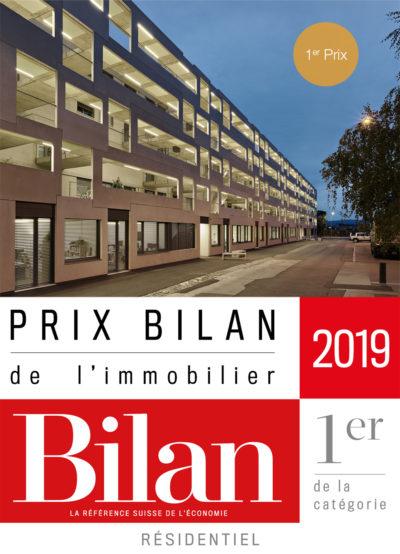 """Prix Bilan de l'Immobilier: Sévelin 8-16 récompensé par le 1er prix en catégorie """"résidentiel"""""""