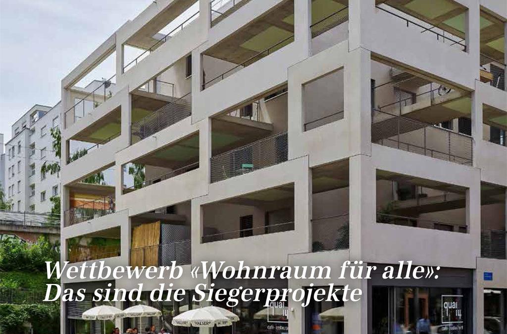 """Le projet Sévelin publié dans """"Wohnen Extra"""""""